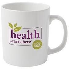 Milk mug with logo
